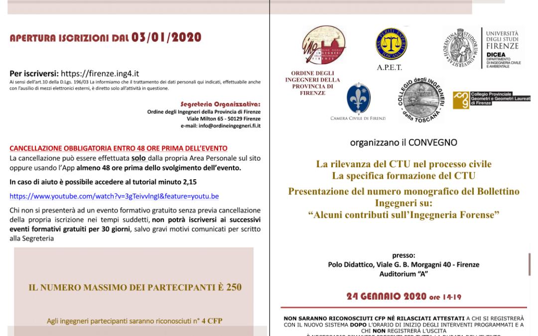 """Convegno:""""La rilevanza del CTU nel processo civile. La specifica formazione del CTU"""""""